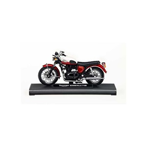 BONNEVILLE T100 1:18 SCALE MODEL CRANBERRY/WHITE