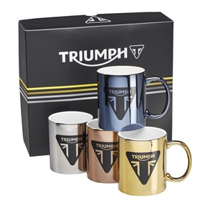 METALLIC MUG SET 4 PK